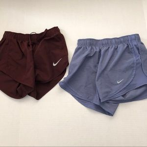 2X Workout Shorts RECENT Dri-Fit Wine & Blue XS